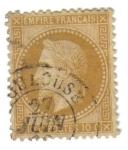 Stamps France -  Napoleón III (1863-70)