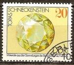 Sellos del Mundo : Europa : Alemania :  Topaz,Piedra caracol,minerales de las colecciones de Freiberg (RDA).