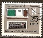Sellos de Europa - Alemania -  robotron microordenador.Feria de primavera en Leipzig 1983(DDR).