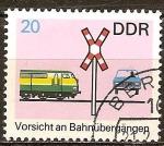 Sellos del Mundo : Europa : Alemania :  Precaución en pasos a nivel (DDR).