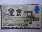 Sellos de Europa - Reino Unido -  Preimer Aniversario del Primer Vuelo Transatl�ntico - Firt Non-Stop Atlantic Flight Alcock y Brown 1