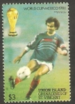 Stamps : America : Saint_Vincent_and_the_Grenadines :  Isla Union - Mundial de fútbol México 86