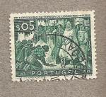 Stamps Portugal -  Toma de Lisboa a los moros