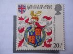 Stamps United Kingdom -  Colege Of Arms Quincentenary - Armas of Richard III.Founder