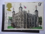 Stamps United Kingdom -  Tower of London - The White Tower.