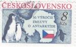 Stamps Czechoslovakia -  mapa Antartida