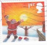 Stamps United Kingdom -  Papa Noël