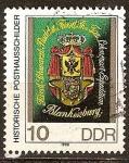 Sellos de Europa - Alemania -  Signos históricos de correos.Blankenburg signo (siglo 19)DDR..