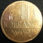 monedas de Europa - Francia -  1980 (Reverso)