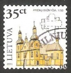 Stamps : Europe : Lithuania :  940 - Iglesia de Prienai