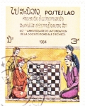 Stamps Laos -  60 aniversario fundación mundial ajedrez
