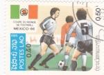 Sellos de Asia - Laos -  Copa mundial de futbol Mexico-86