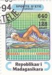 Sellos de Africa - Madagascar -  natación