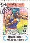 Sellos de Africa - Madagascar -  boxeo