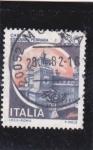 Sellos de Europa - Italia -  castello Estense Ferrara