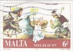 Sellos de Europa - Malta -  adoración al niño Jesus