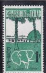 Sellos de Africa - Chad -  logo elefante