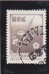 Sellos de Asia - Taiwán -  flores-