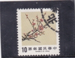 Stamps : Asia : Taiwan :  flores