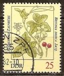 Sellos de Europa - Alemania -  Las plantas venenosas-Bayas rojas Bryony, Bryonia dioica Jacq (DDR).
