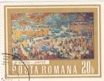 Sellos de Europa - Rumania -  pintura paisaje