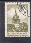 Stamps Romania -  torre del reloj-Sighisoara
