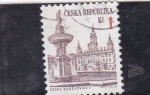 Stamps Czech Republic -  panorámica de Budejovice