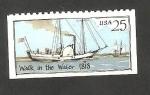 Sellos de America - Estados Unidos -  1858 - Barco de vapor