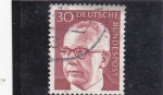 Stamps Germany -  presidente Heineman