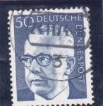 Stamps Germany -  presidente Heineman