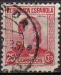 Stamps Spain -  ESPAÑA 1933 685 Sello Personajes. Manuel Ruiz Zorrilla Usado