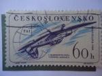 Stamps Czechoslovakia -  Primer campeonato de Acrovacia Aérea- Bratislava 1960.