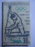 Sellos de Europa - Checoslovaquia -  XVIII Juegos Olímpicos de Tokio 1964 - 50 Años C.S. Kandistiky