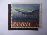 Stamps : Africa : Zambia :  Zambia Airways.