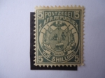 Stamps : Africa : South_Africa :  Escudos - z. Afr. Republiek - Vijf. Shillings.