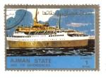 Sellos de Asia - Emiratos Árabes Unidos -  Los buques, de pequeño formato (Ajman)