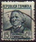 Stamps Spain -  ESPAÑA 1936 733 Sello Personajes. Concepción Arenal Usado