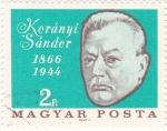 Stamps Hungary -  Koranyi Sándor 1866-1944 -medicina