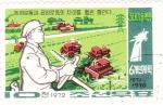 Stamps North Korea -  tratorista