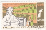 Stamps North Korea -  cocinera