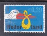 Sellos de Europa - Holanda -  dibujo cigüena
