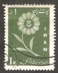Stamps : Asia : Iran :  961 - Flor