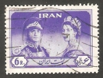 Stamps : Asia : Iran :   967 - Visita de la Reina Elizabeth II