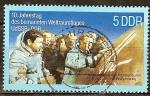 Sellos de Europa - Alemania -  10a aniv del vuelo del espacio articular URSS -DDR,Cosmonauta Sigmund Jähn y Valeri Bykowski.