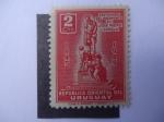 Stamps Uruguay -  Centenario del Nacimiento de José Pedro Varela 184-1945.