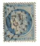 Stamps France -  Ceres (1870-71)