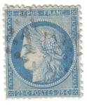 Sellos de Europa - Francia -  Ceres. III República (1871-75)