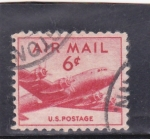 Stamps United States -  avión- cuatrimotor