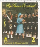 Stamps Equatorial Guinea -  Aniversario de Plata de Isabel II
