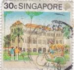 Sellos de Asia - Singapur -  ilustración panorámica